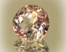 Glittering Silver White Topaz 9mm VVS gem No reserve