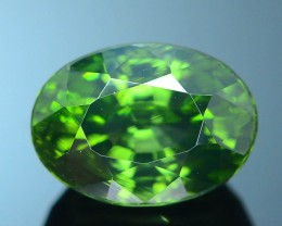 AAA Rarity 3.27 ct Low Metamict Green Zircon Great Luster Unheated Srilanka
