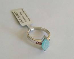 Druzy garnet 925 Sterling silver ring #440