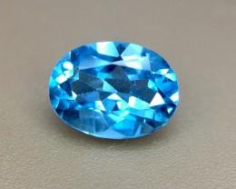 1.0 Crt Natural London Blue Topaz Faceted Gemstone (R 139)