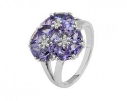 Tanzanite 925 Sterling silver ring #10237