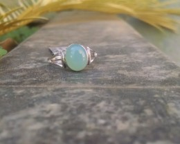 Chalcedony 925 Sterling silver ring #201