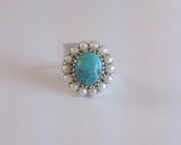 Turquoise 925 Sterling silver ring #009