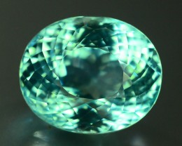 AIGS Certified 17.50 ct Natural Neon Blue  Paraiba Tourmaline