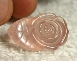 32.02 Carat African Rose Quartz Carving - Gorgeous