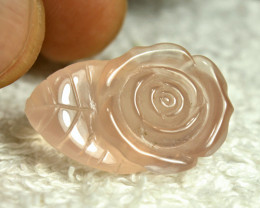 32.02 Carat African Rose Quartz Carving - Gorgeous