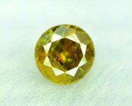 0.95 ct Round Shaped Rare Full Fire Green Sphene Titanite Gemstone