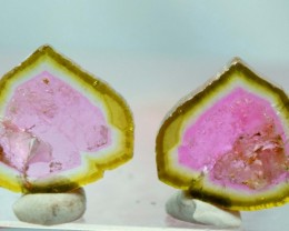 No Reserve - 6.95 cts Top Quality Both Sides Polished Watermelon Tourmaline