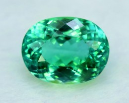 No Reserve - 14.50 cts Oval Shape Cut Lush Green Spodumene Gemstone From Af