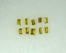 0.10 Cts Natural Fancy Yellow Diamond 10 Pcs Parcel Africa