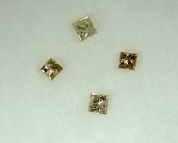 0.13 Cts Natural BroWn Diamond 4 Pcs Africa