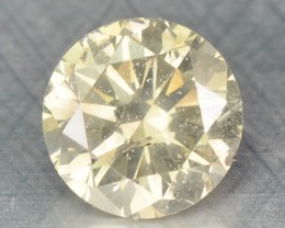 0.32 Cts Natural Light Yellow Diamond Round Africa