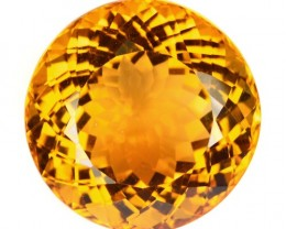 24.30 Cts Natural Golden Orange Citrine Round Cut Brazil Gem