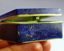 159CT Natural lapis lazuli Carved Box Stone Special Shape