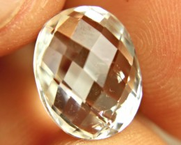 9.89 Carat Double Cut White VS-SI Topaz
