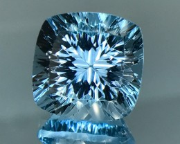 12.60 CT NATURAL TOPAZ WITH TOP  BRILLIANT LASER CUT GEMSTONE