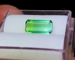 1.35 cts VVS BICOLOR TOURMALINE - BLUE & GREEN - 48 Hour No Reserve Auc