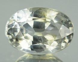 1.06 Cts Natural Corundum White Sapphire Oval Africa