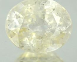 1.49 Cts Natural Corundum Light Yellow Sapphire Oval Africa