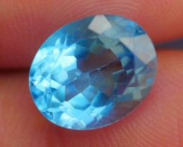 4.80 CRT STUNNING SWISS BLUE TOPAZ VERY CLEAR
