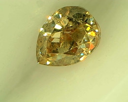0.22ct Fancy Ligh Yellow Green Diamond , 100% Natural Untreated