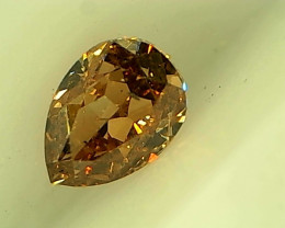 0.21cts  Fancy Intense Orangish Brown Diamond , 100% Natural Untreated