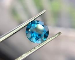 1.60 Crt Natural London Blue Topaz Faceted Gemstone (951)