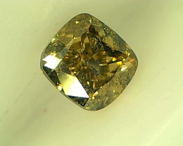 0.25cts Fancy Brownish Green Diamond , 100% Natural  Untreated
