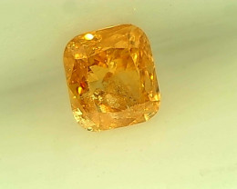 0.18cts Fancy Orange Diamond, 100% Natural Untreated