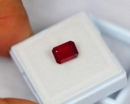 2.69ct Natural Ruby Octagon Cut Lot GW917