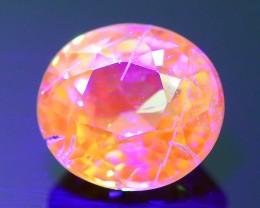 Rare Fluorescent Garnet 1.08 ct Grossular Mint Merelani Tanzania SKU 1