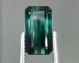 1.79 Cts Untreated Indicolite Tourmaline Awesome Color ~ Afghanistan Kj85