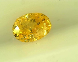 0.16cts Fancy Intense greenish Yellow Diamond , 100% Natural Untreated