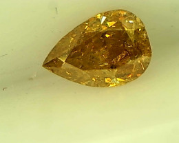 0.19cts Fancy Intense Brownish Yellow Diamond , 100% Natural Untreated