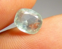 2.21ct Green Ceylon Sapphire , 100% Natural Untreated Gemstone