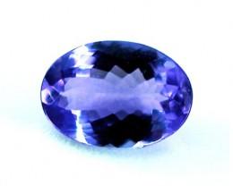 0.92 ct IF-VVS  Bright Rich Glowing Natural Tanzanite