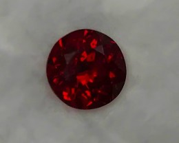 2.67ct Certified Lovely Dark Red Almandite Garnet VVS