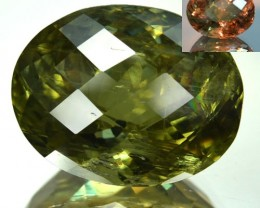 ~CERTIFIED~ 28.175 Cts Natural Color Change Diaspore Checkerboard Cut Turke