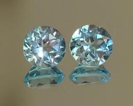 Jewellery Grade Blue Topaz Pair - 7.0mm
