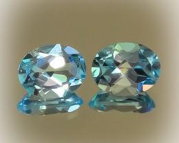 Jewellery Grade Blue Topaz Pair -  9 x 7.0mm
