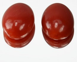 ~UNTREATED~ 5.12 Cts Natural Italian Red Coral Cabochon 2Pcs (10 x 8 mm)