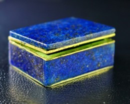 170 CT Natural lapis lazuli Carved Box Stone Special Shape