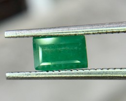 0.40 Crt Natural Swat Emerald Faceted Gemstone (952)