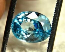 3.16 Carat Blue Southeast Asian Zircon - Gorgeous