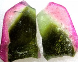 61.15CTS BICOLOR WATERMELON TOURMALINE SLICED TBM-1405