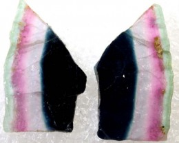 16.15CTS TRICOLOR WATERMELON TOURMALINE SLICED TBM-1406