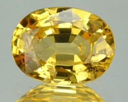 CERTIFIED 1.25 Cts Natural Corundum Yellow Sapphire Oval