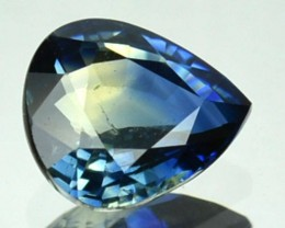 UNHEATED 1.04 Cts Natural Corundum Bi Color Sapphire Pear Africa