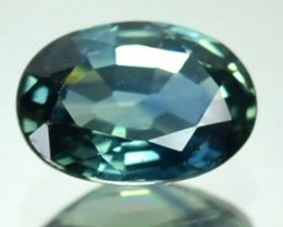 UNHEATED 0.97 Cts Natural Corundum Blue Green Sapphire Oval