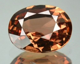 0.86 Cts Natural Corundum Orange Sapphire Oval Africa